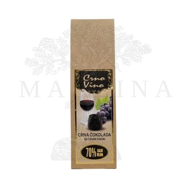 Praline crna čokolada sa crnim vinom 95g