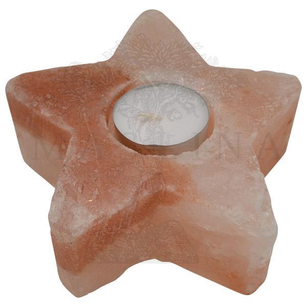 Svećnjak od himalajske soli u obliiku Zvezde