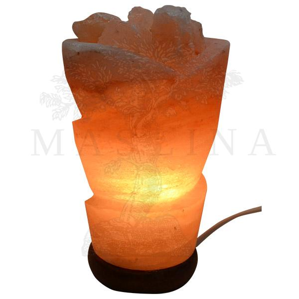 Lampa od himalajske soli Cveće sa grumenom