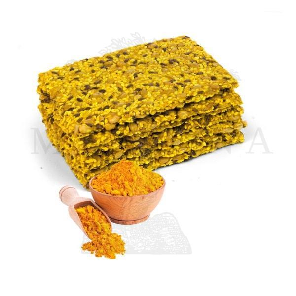 Proteinske pločice bez brašna sa kurkumom - žute