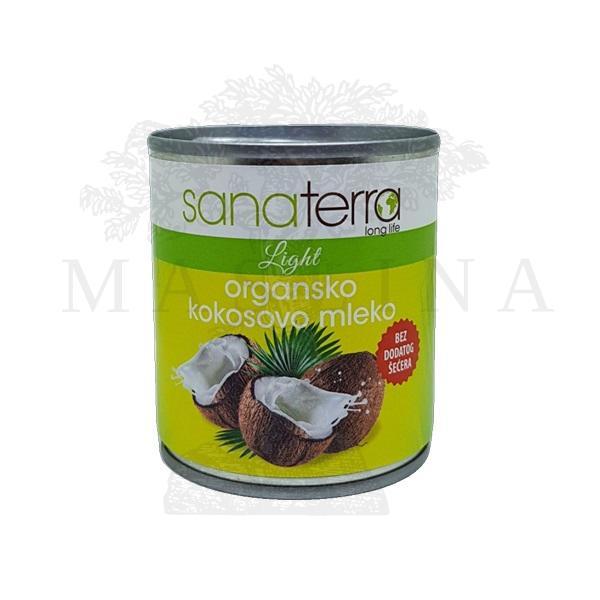 Organsko kokosovo mleko bez šećera Sanaterra 200ml