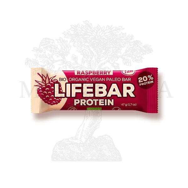 Lifebar protein malina organic 47g