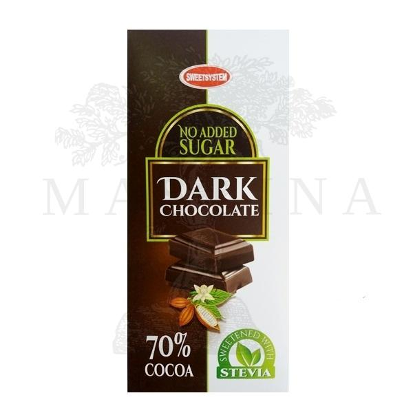 Crna čokolada sa stevijom Sweetsystem 90g