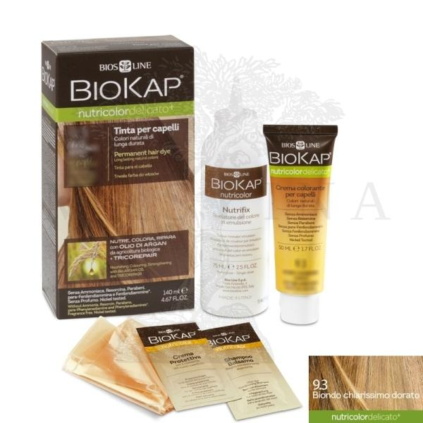 BioKap Delicato  +Farba za kosu 9.3 vrlo svetlo zlatno plava140ml