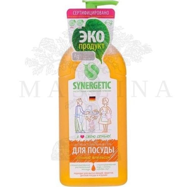 SYNERGETIC Bio gel za ručno pranje posuđa, voća, povrća i igračaka dozer 0,5l narandža sa jonima srebra