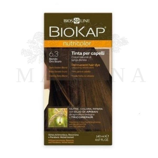 BioKap Farba za kosu 6.3 tamno zlatno plava 140ml
