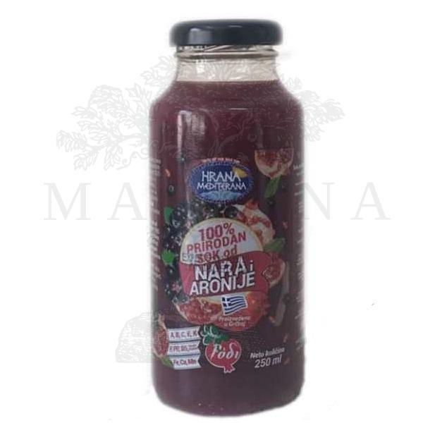 Prirodni sok od nara i aronije 250 ml