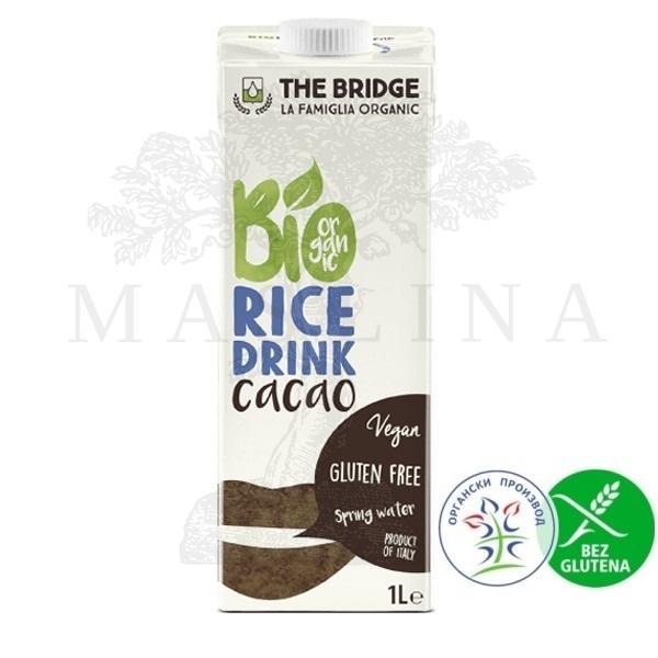 Pirinčani napitak sa kakaom, organski, bez glutena  The Bridge 1l