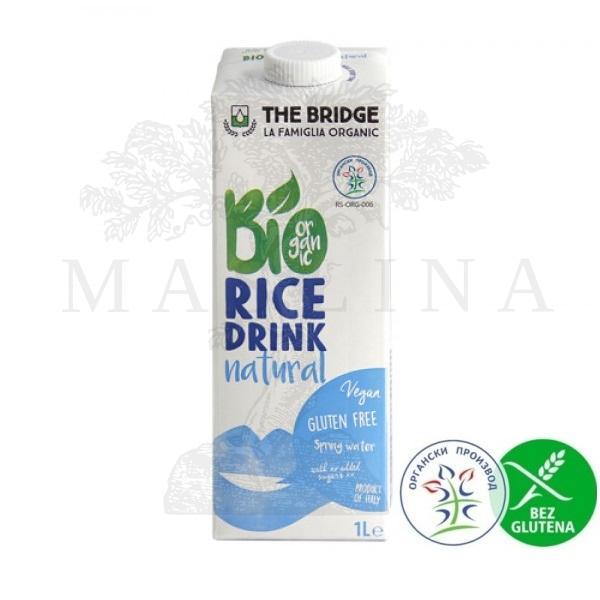 Organski pirinčani napitak natural  bez glutena The Bridge 1l