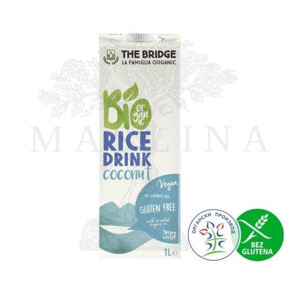 Organski pirinčani napitak sa kokosom  bez glutena The Bridge 1l