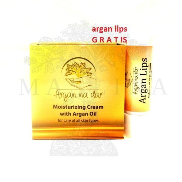 Hidrantna krema sa arganovim uljem 50ml + Argan lips GRATIS