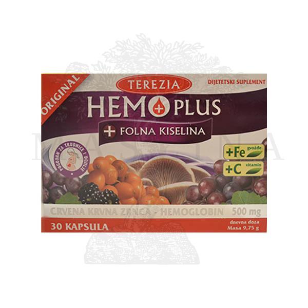 Hemoplus + folna kiselina kapsule 30 komada
