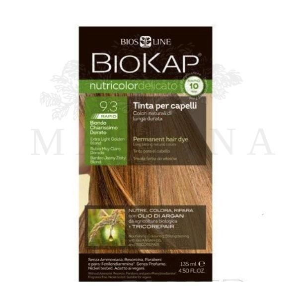 BioKap Delicato rapid Farba za kosu 9.3 vrlo svetlo zlatno plava135ml