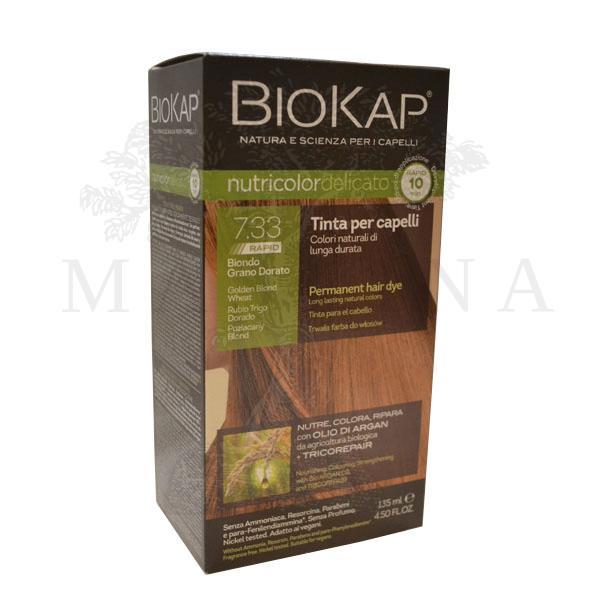 BioKap Delicato rapid Farba za kosu 7.33 zlatno plava 135ml