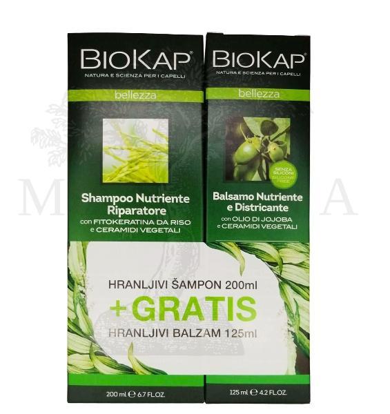 PROMO BioKap Hranljivi šampon za suvu i oštećenu kosu 200ml+Hranljivi balzam za kosu 125ml