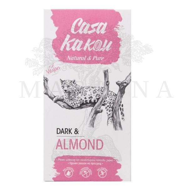 Crna čokolada 66% sa bademom Casa kakau 90g