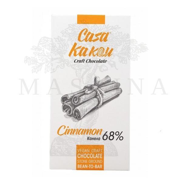 Crna čokolada 68% sa cimetom Casa Kakau 70g