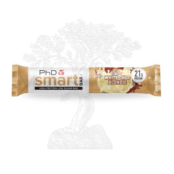 Phd smart protein bar bela čokolada 64g