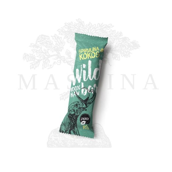 Wild bar spirulina kokos raw 40g