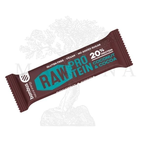 Raw protein bar - kokos i kakao Bombus 50g
