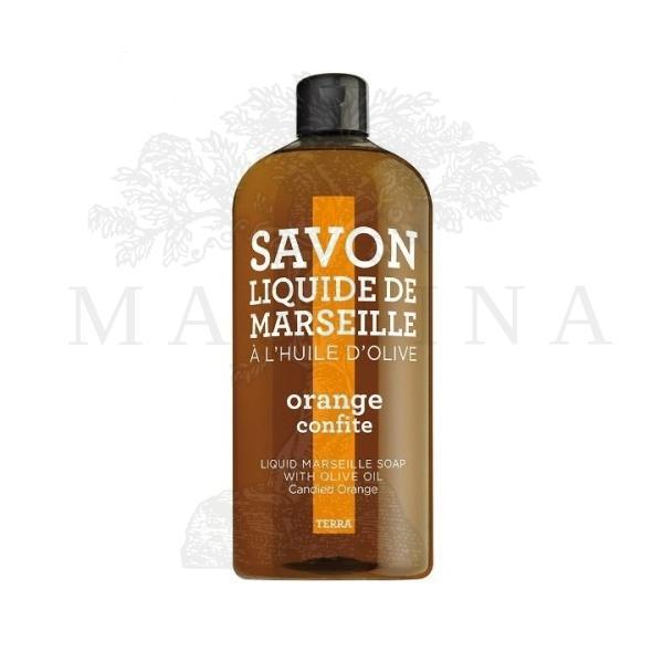 Tečni marsejski sapun Kandirana pomorandža Terra 1l