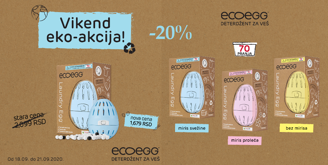 ECO EGG VIKEND AKCIJA